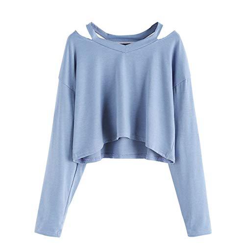 WomensT-shirtClearance,KIKOY Long Sleeve Off Shoulder Sweatshirt Causal Tops