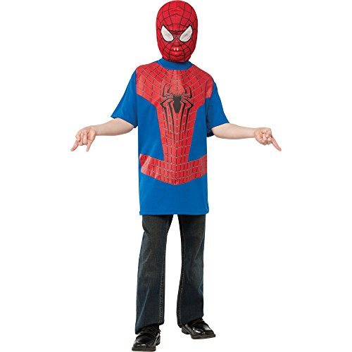 The Amazing Spider-man 2, Spider-man Costume Top and Mask, Child Small