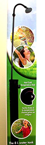 Eco Solar Heated Outdoor Shower. Hot / Cold Temperature Dial. 8 L - 7ft. by Outdoor (Image #1)