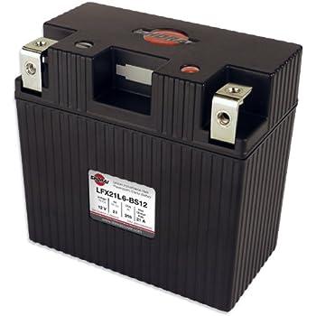 """Shorai Inc Lithium Power Sports Iron Battery 21AH 12V EQ """"L""""6 - LFX21L6-BS12"""