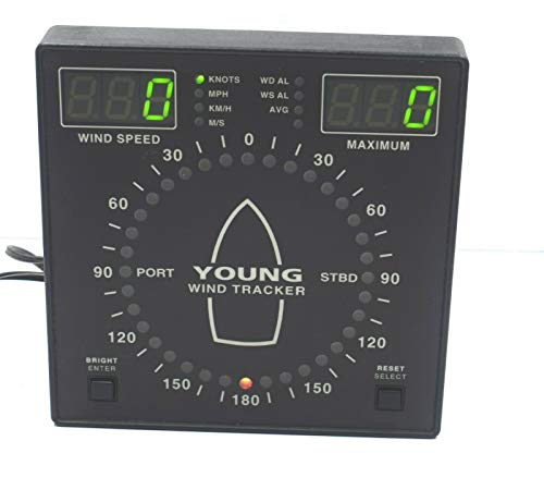 Young 06206 Compact Adjustable Display Marine Wind Speed Tracker Knots, MPH, KM/H, MIS from Maritime