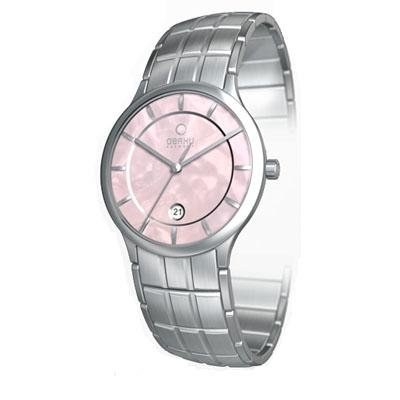 Obaku Harmony Womens Watch - Silver Band / Pink Face - V101LCPSCS-018