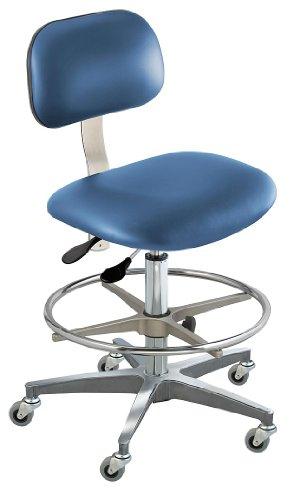 - BioFit - BTC-M-R-ATF-VUV-AV106 - Upholstered Vinyl Ergonomic Chair with 19 to 26 Seat Height Range and 300 lb. Weight Capacity, Blu