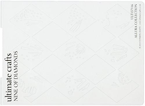 Diamond Allura - Ultimate Crafts ACULT157116 Allura Collection Embossing Folder, Nine of Diamonds