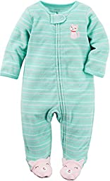 Carter\'s Baby Girls Terry, Turquoise, 6 Months
