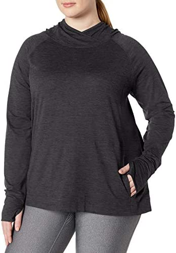 Essentials fashion-t-shirts Donna Plus Size Brushed Tech Stretch Long-sleeve Crew