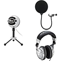 Blue Snowball USB Microphone (Brushed Aluminum) with...