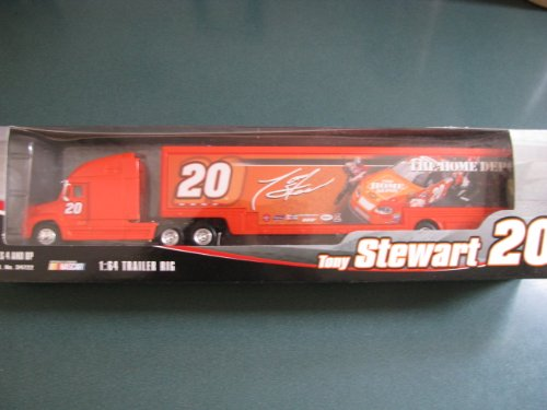 2005 Tony Stewart #20 Home Depot Pit Stop Scene Race Car Image Hauler Trailer Transporter Semi Tractor Rig Truck 1/64 Scale Winners (Home Depot Race Car)