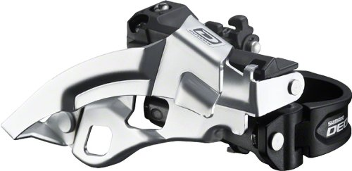 10 Speed Front Derailleur (Shimano FD-M610 Top Swing 3x10-Speed Deore Front Derailleur, 28.6/31.8/34.9mm,)