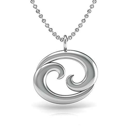 The Best CANCER Pendant Necklace, 925 Sterling Silver 18 inch necklace with a Zodiac CANCER Symbol Pendant