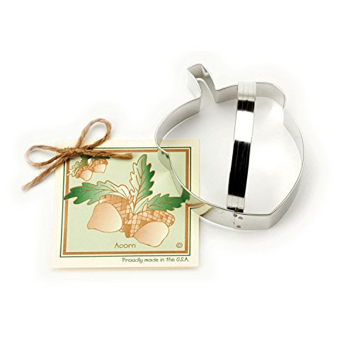 Acorn Cookie and Fondant Cutter - Ann Clark - 5 Inches - US Tin Plated Steel -