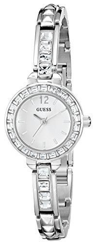 GUESS Women s U0429L1 Elegant Silver-Tone Jewelry Inspired Watch