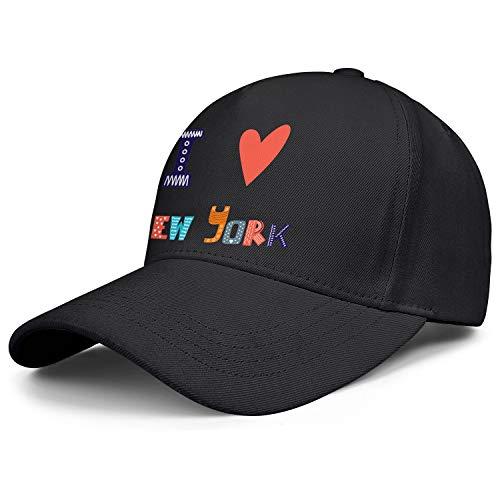 Unisex Cap I Love New York Cute Postcard Greeting Card Athletic Baseball Cap Polo Style Men's Womens' Mesh Cap
