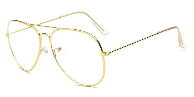 Gafas de aviador ultrafinas y color dorado. Buena calidad y opción de otros diseños.