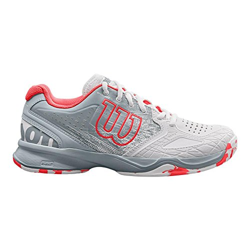 cheap real authentic Wilson KAOS Comp Women's Tennis Shoe White/Pearl Blue/Fiery Coral White/Pearl Blue/Fiery Coral buy cheap 100% guaranteed discount buy discount official site Algq1MXF
