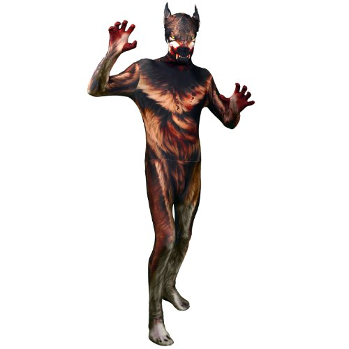 Morphsuits Morphsuit Premium Werewolf, Brown/Red, XX-Large -