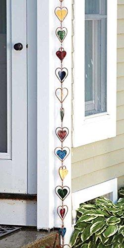 Ancient Graffiti Multicolor Heart Rain Chain, 4'' x 96'' x 4''