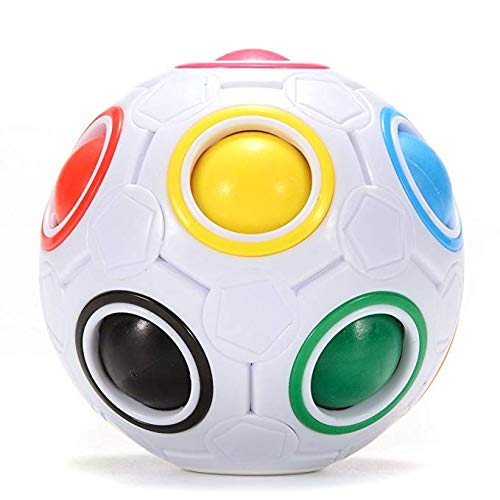 HTLY SPR Magic Rainbow Ball, Intelligent 3D Puzzle Speed Cube, Educational Toys for Children, Stress Reliever Ball for Adult.