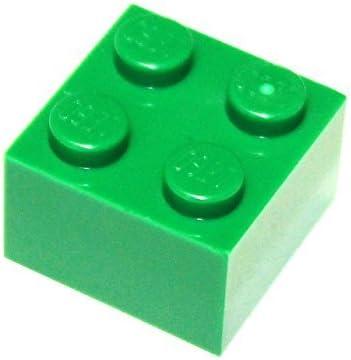 LEGO Parts and Pieces: 2x2 Green (Dark Green) Brick x20