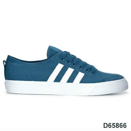 wholesale dealer b0f10 0a3ec adidas ADIDAS NIZZA LO CLASSIC 78 - Zapatillas de lona para hombre, color  azul, talla 42 23 Amazon.es Zapatos y complementos