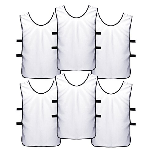 SportsRepublik Soccer Pinnies | Scrimmage Vests (6-Pack) - Perfect as Kids Basketball Jerseys, Youth Football Practice Jerseys or Pennies for Soccer Kids, Youth and Adults - Last Longer, Look Cooler