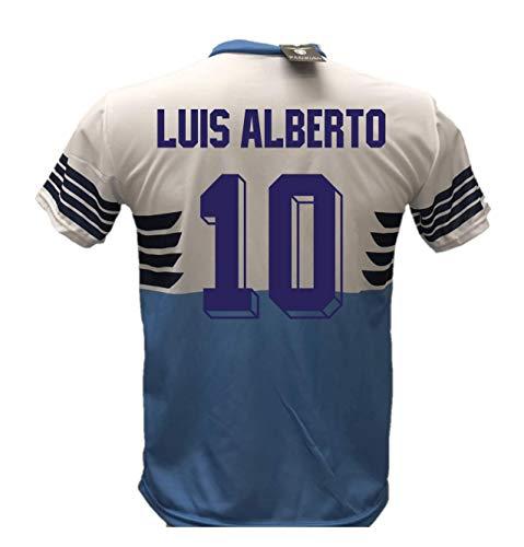 Camiseta de fútbol Lazio Luis Alberto 10 réplica autorizada 2018-2019 para niño (tallas 6, 8, 10, 12) para adulto (S, M…