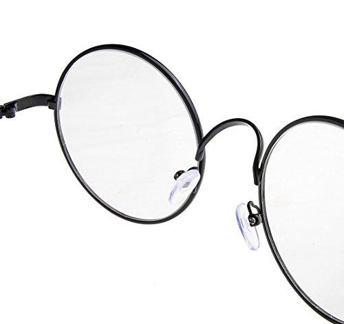Ebuddy Costume Black Brozen Round Eyeglasses (1pair Black)