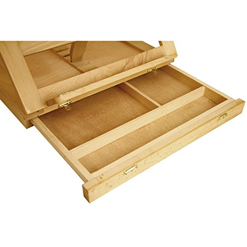 U.S. Art Supply Solana Adjustable Wood Desk Table Easel with Storage Drawer, Paint Palette, Premium Beechwood - Portable Wooden Artist Desktop, Board for Canvas, Painting, Drawing Sketching Book Stand by US Art Supply (Image #2)