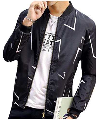 Jacket Spring Autumn Varsity Western Classic 1 Casual MogogoMen Fit nPAw1qx1g