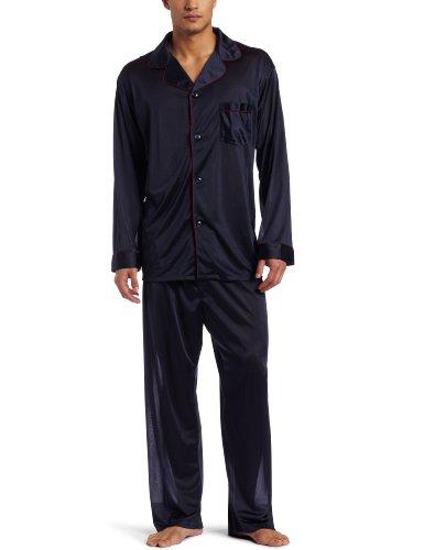 Intimo Men's Travel PJ Set, Navy, X-Large