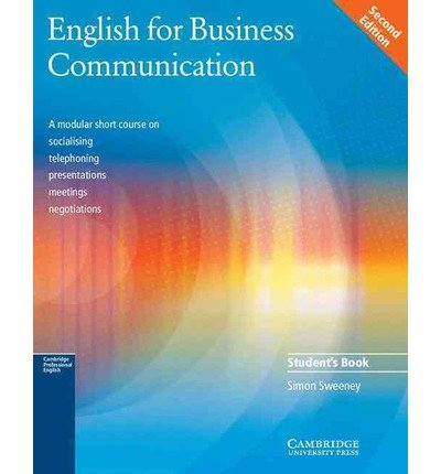 Download [ [ [ English for Business Communication (Student's Guide) [ ENGLISH FOR BUSINESS COMMUNICATION (STUDENT'S GUIDE) ] By Sweeney, Simon ( Author )Apr-14-2003 Paperback ebook