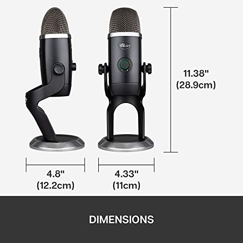 Blue Yeti X Professional Condenser USB Microphone with High-Res Metering, LED Lighting & Blue Voice Effects for Gaming, Streaming & Podcasting On PC & Mac
