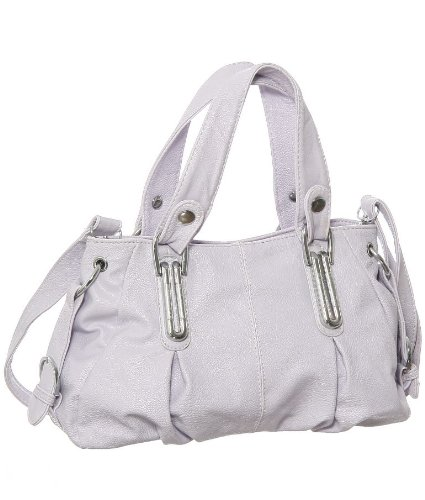 """Pale Lilac """"Triple Compartment"""" Small Crossbody Convertible Bag, Bags Central"""