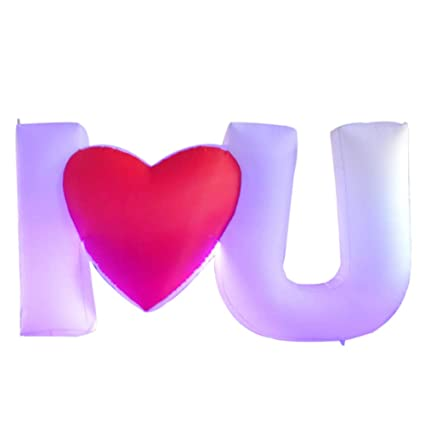 Amazon.com: Sayok - Letra inflable LED (I Love U), letras ...