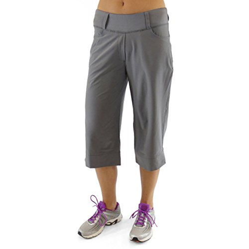 Alex + Abby Women's Stroll Capri Large Castle Rock Grey