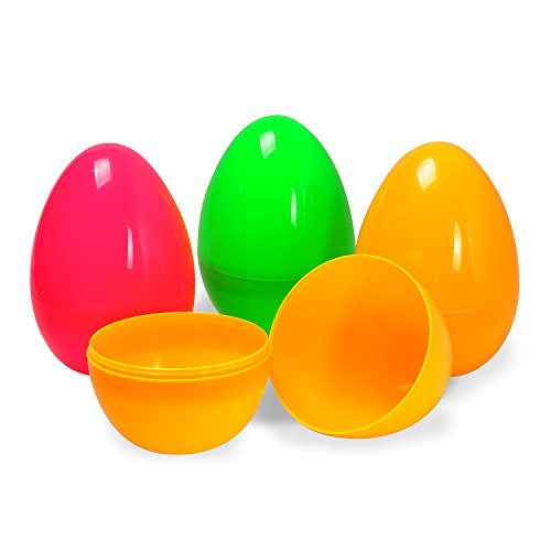 Jumbo 5.9 Inches Colorful Easter Eggs – Pack of 12 ()