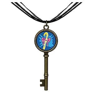 Chicforest Bronze Retro Style Christmas stick Jewelry Vintage Key Pendant