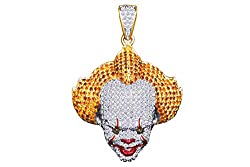 Natural White Diamond Joker Face Pendant