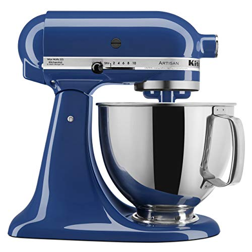 KitchenAid KSM150PSBW Artisan Series 5-Qt. Stand Mixer with Pouring Shield - Blue Willow (Blue Kitchenaid Mixer Cover)