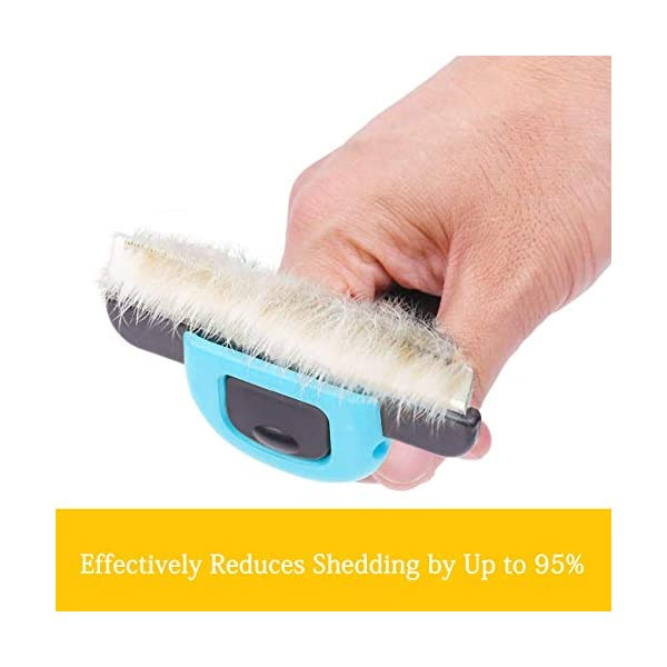Pet Grooming Brush Effectively Reduces Shedding Byup to 95% Professional Deshedding Tool for Dogs & Cats 2