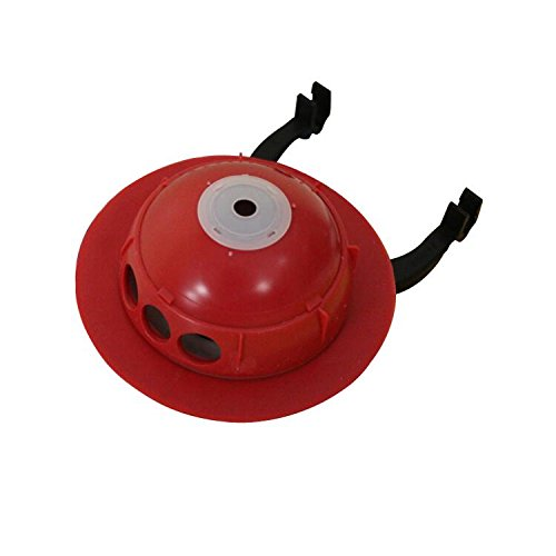 Korky 2023BP Universal Flapper for Toto Toilet Repairs, 3'', Red by Korky