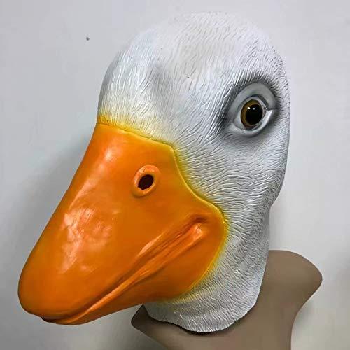 DeemoShop Latex Duck mask Little Yellow Duck Dance Masks Halloween Goose Cap mask Cosplay Novelty Costume Party Fancy Dress Animal Masks -