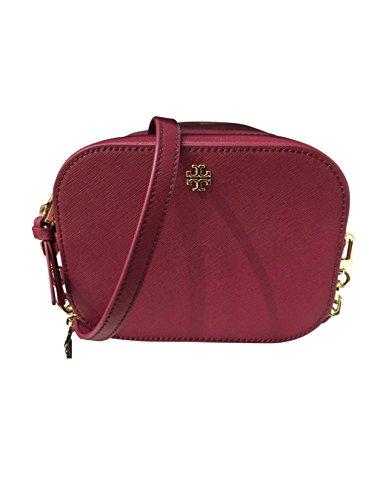 Tory Burch Robinson Round Cross-Body Luggage Saffiano Leather Gold-Tone Hardware - Tory Purple Bag Burch