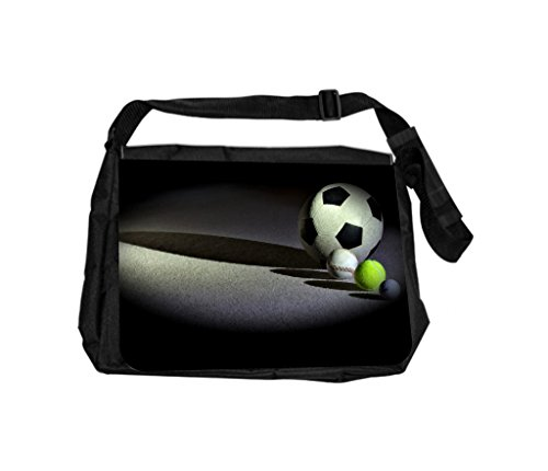 Sports Balls Rosie Parker Inc. TM Laptop Messenger Bag and Small Case for Wire Accessories Set by Rosie Parker Inc.TM