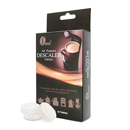 Descaling Tablets for Coffee Machines (6 Tablets/6 Uses) - Descaler Stain Remover for Cleaning Nespresso, Keurig, Bosch, DeLonghi, All Single Use and other Espresso Makers (Nespresso Machine Descaler)