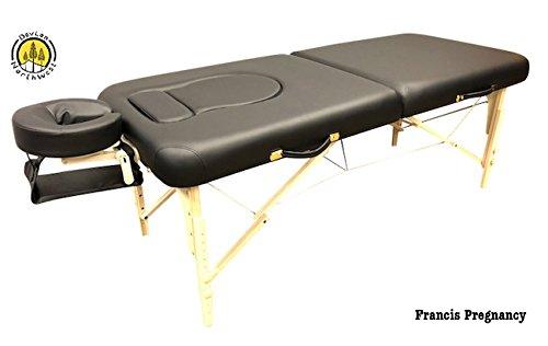Pregnancy Portable Massage Table Black DevLon NorthWest Francis Reiki Siatsu Stomach Recesses