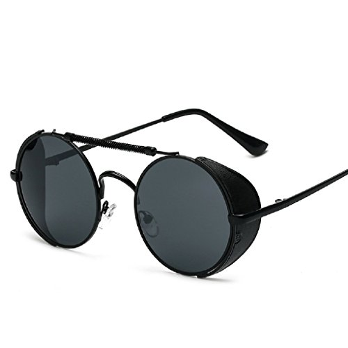 Steam Punk Polarized Sunglasses Personality Wind Screen Round - Solar X Wholesale Sunglasses