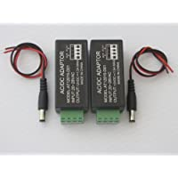 24V AC To 12V DC Convertor Power Supply Adaptor and DC 2.1mm For CCTV Security Camera System Pack of 2Pcs