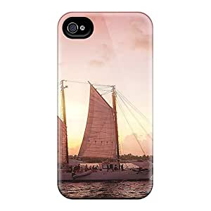 New Arrival Premium 6 Cases Covers For Iphone (beautiful Scooner Under A Pink Sky)