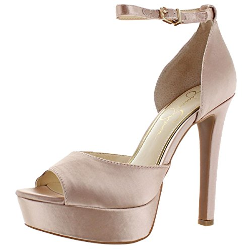 Jessica Simpson Womens Beeya Peep Toe Ankle Strap Pumps, Nude Blush, Size 10.0 - Jessica Simpson Peep Toe Shoes